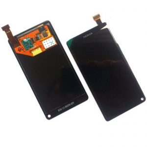 Genuine Nokia N9 digitizer touch screen+AMOLED LCD display front glass NEW