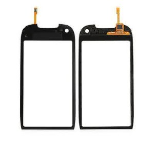 Nokia C7 C 7 00 Top LCD Touch Screen Digitizer Pad Panel Glass Front Black UK