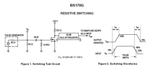 mosfet semiconductor bs170g test circuit