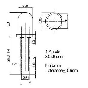 3mm led pin