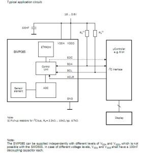 BMP085 digital pressure sensor