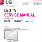 Free Download service manual LG LED color TV 24LN41xx