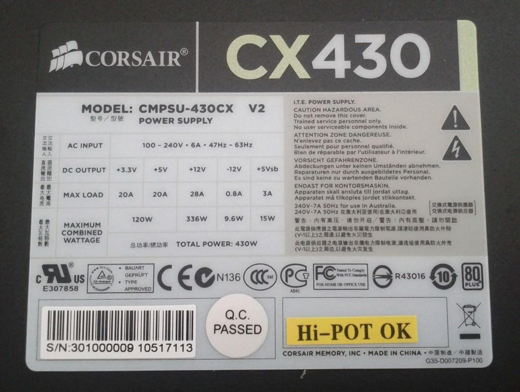 corsair cx 430 repair