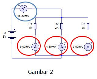 fungsi resistor pembagi arus listrik