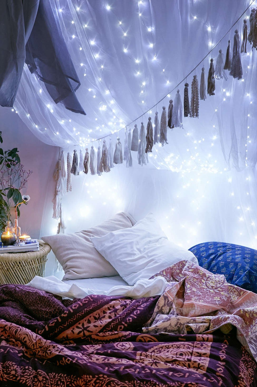 hiasan kamar denganLampu-Tumblr