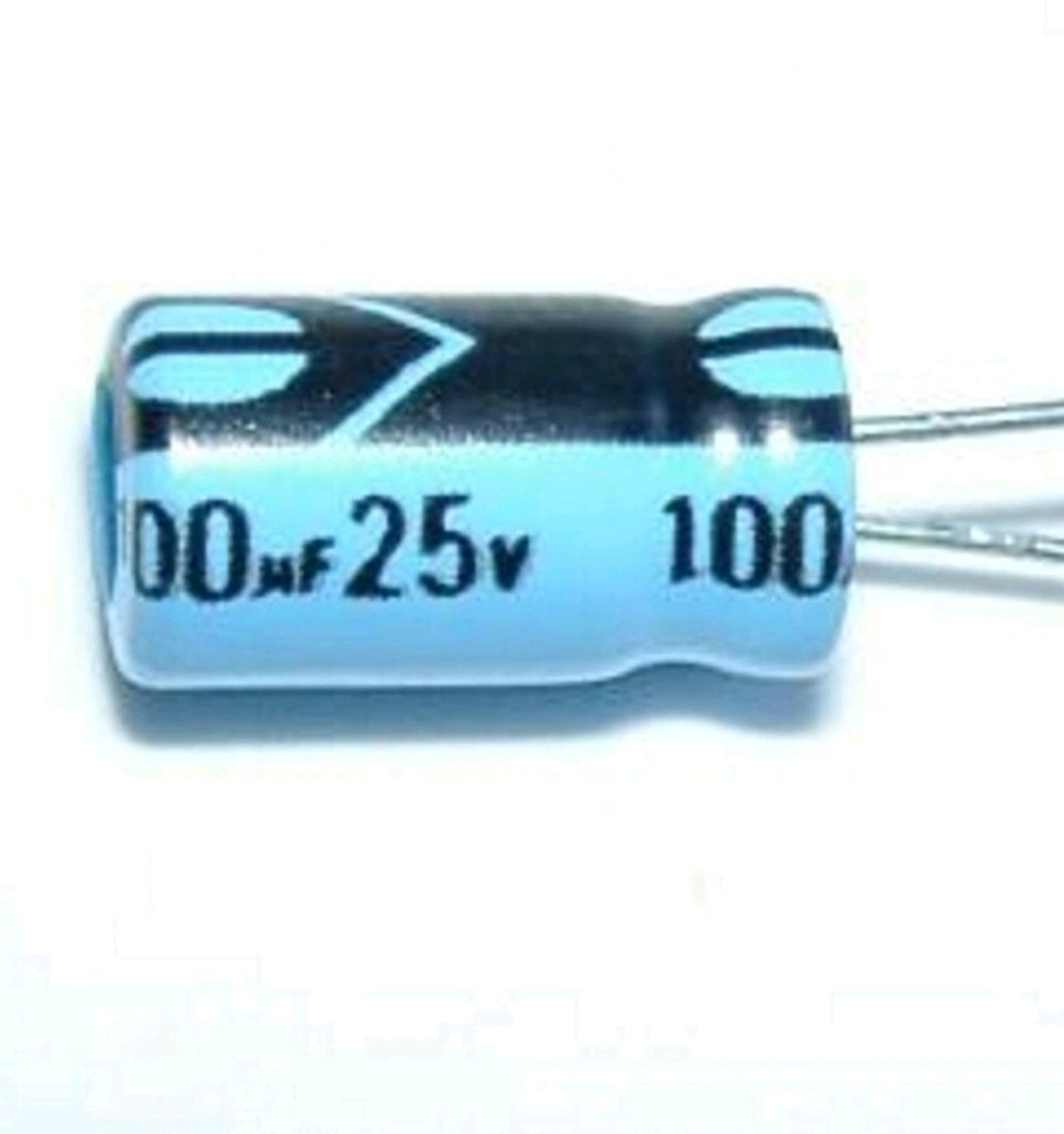 kapasitor elektrolit elco 100 uF 25 volt