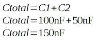 rumus menghitung kapasitor paralel