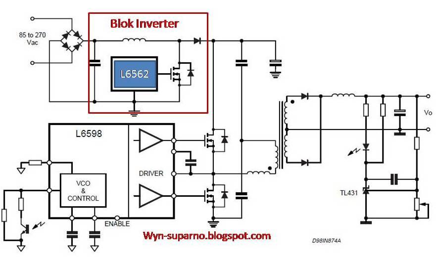 skema diagram power supply tv lcd polytron