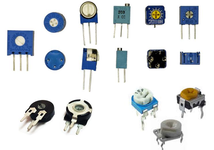 Gambar macam macam trimpot variabel resistor trimmer potensio