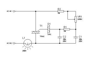 Rangkaian-Elektronika-pengatur lampu dimmer sederhana
