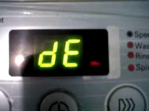 Kode error DE mesin cuci Samsung 1 tabung