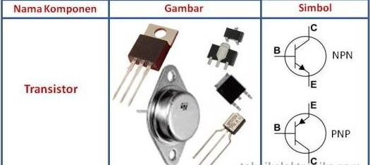 komponen elektronika aktif transistor