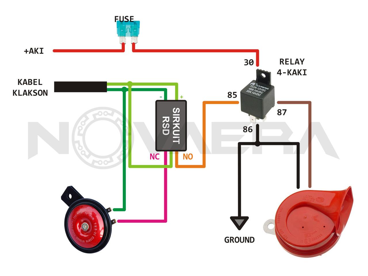 Relay Pengertian Fungsi Cara Kerja Simbol Jenis Contoh 12 Volt 8 Kaki Gambar Diagram Kelistrikan Klakson Pasang Di Mobil Dan Motor