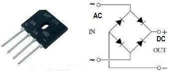 simbol dioda bridge untuk penyearah